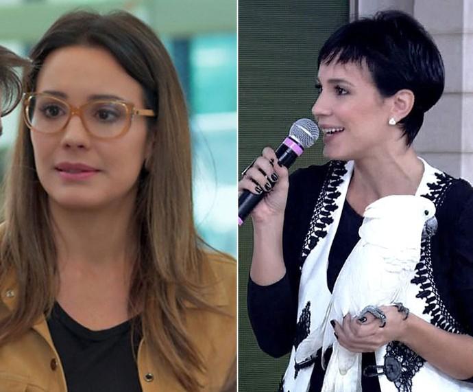 Juliana Knust mostra novo visual no 'Encontro' (Foto: TV Globo)