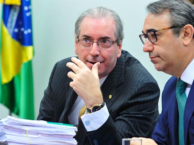 O deputado afastado Eduardo Cunha (PMDB-RJ) em reunião da CCJ (Foto: Luis Macedo/Câmara dos Deputados)