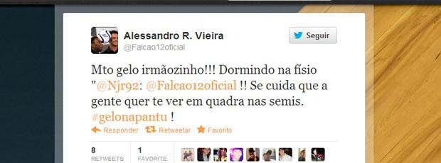 Neymar e Falcão, no twitter (Foto: Reprodução / Twitter)