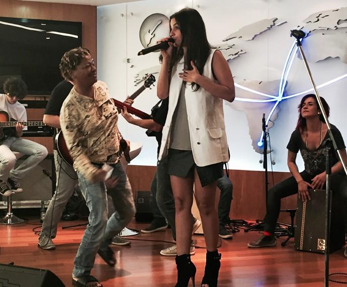 Emanuelle Araújo e Mart'nália fazem parte da homenagem à Cássia no Rock in Rio (Foto: Carolina Caldas/Gshow)