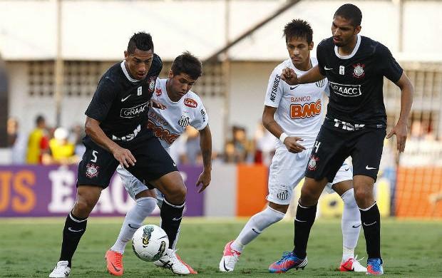 Patito Neymar Ralf Santos Corinthians (Foto: Ricardo Saibun / Divulgação Santos FC)