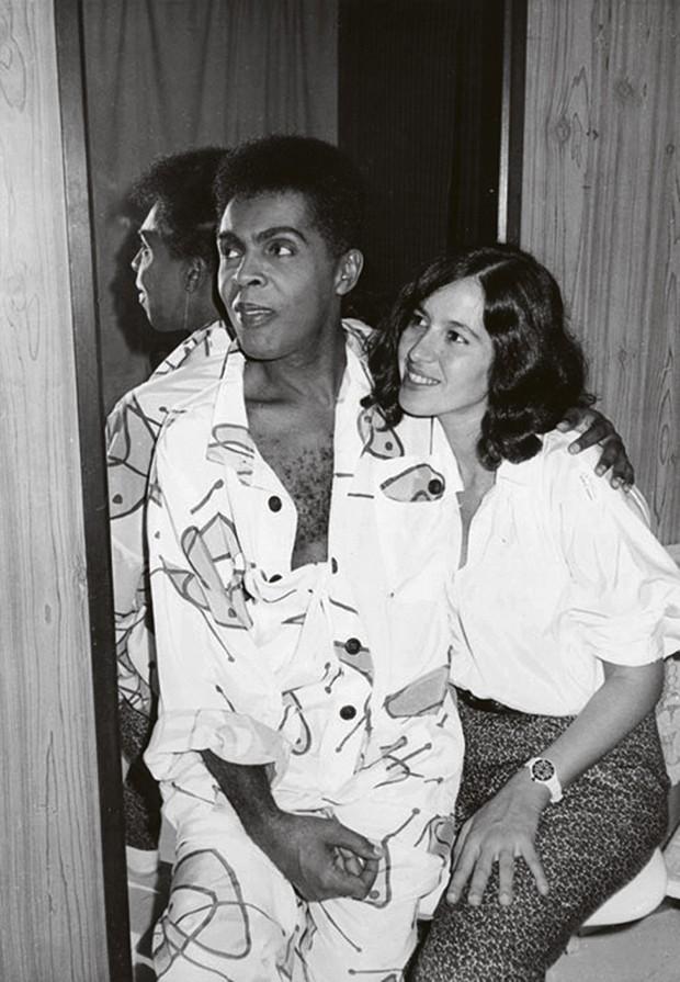 A empresária e o músico nos anos 80 (Foto: Priscila Casaes)
