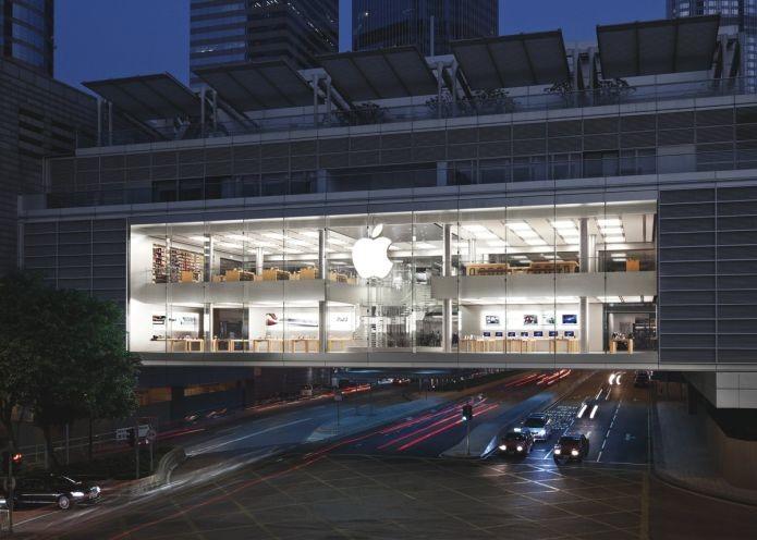 A Apple Store que fica em Hong Kong (Foto: Divulgação/Apple)
