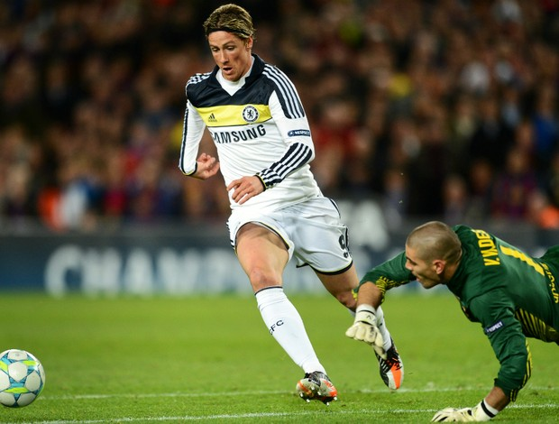 Fernando Torres Chelsea x Barcelona (Foto: Getty Images)