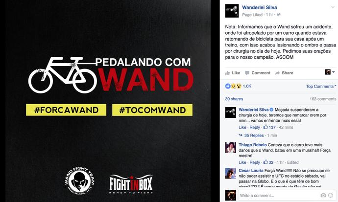 Wanderlei Silva, Facebook (Foto: Reprodução/ Facebook)