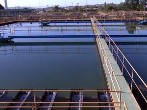 Estação de Tratamento de Água em Campinas (Foto: Reprodução / EPTV)