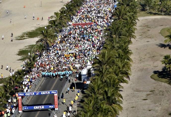 Meia Maratona do Rio vista de cima euatleta (Foto: Sérgio Shibuya/MBraga Comunicação)