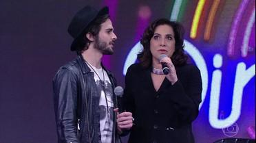 Fiuk e Totia Meireles tentam acertar o primeiro convidado do 'Ding Dong'