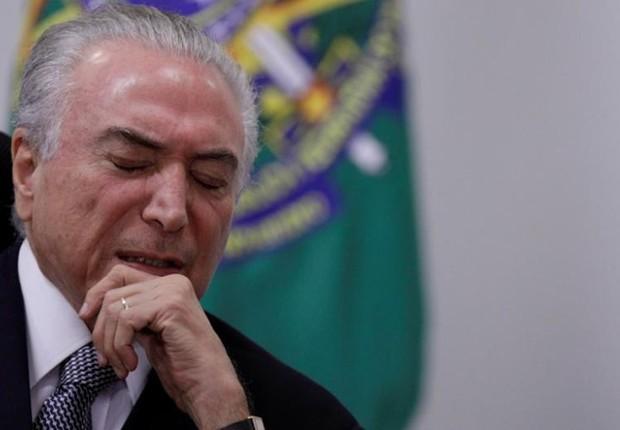 O presidente Michel Temer em reunião no Planalto (Foto: Ueslei Marcelino/Reuters)