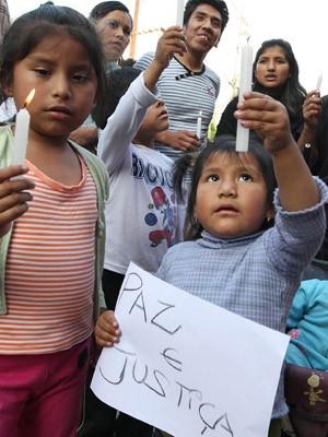 Protesto bolivianos (Foto: Epitácio Pessoa/Estadão Conteúdo)