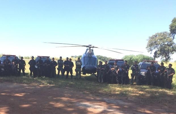 Dois suspeitos morrem em confronto com PM após tentarem assaltar posto em Goiás (Foto: Divulgação/PM)