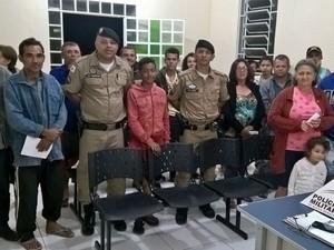PM realiza reunião em Comunidade Rural (Foto: Policia Militar/ Divulgação)