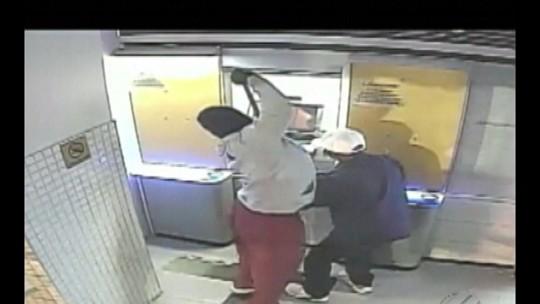 Imagens de segurança mostram invasão à agência bancária na BR-316