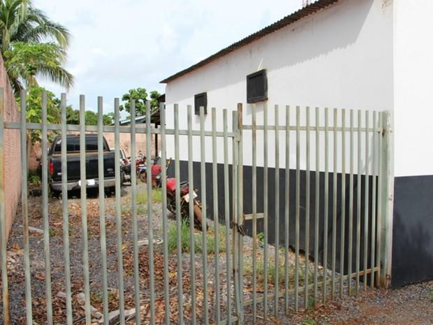 Delegacia de Nova Ubiratã funciona em casa alugada com pouca estrutura (Foto: Michel Ferreira/ Ubiratã 24 Horas)