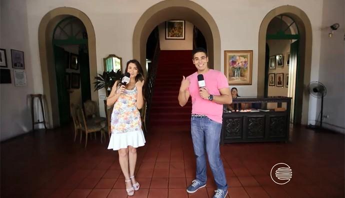 Simone Castro e Helder Vilela mostra as belezas e acervo do museu do Piauí (Foto: Reprodução/Rede Clube)