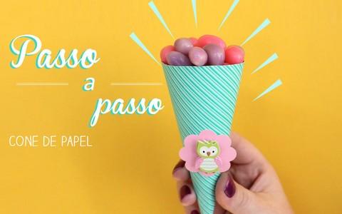 Festa infantil: veja como fazer forminha de docinho e cone de papel para guloseimas