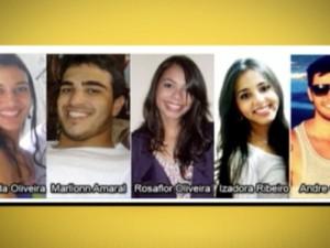 Jovens desaparecidos no Espírito Santo (Foto: Reprodução/TV Gazeta)