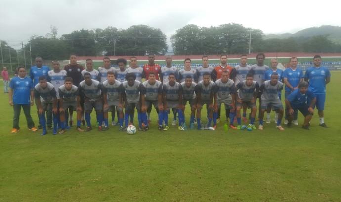 Barra Mansa levou 24 atletas para jogo-treino contra o sub-20 do Fluminense (Foto: Allysson Costa/Barra Mansa FC)