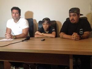 Empresário e músicos da banda Pollo falam sobre separação (Foto: Marcelo Mora/G1)
