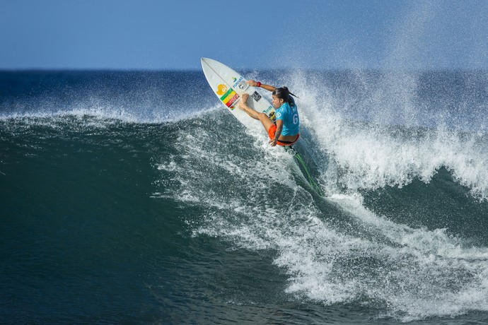 Silvana Lima em ação na etapa de Maui, no Circuito Mundial de Surfe (Foto: Divulgação / WSL)