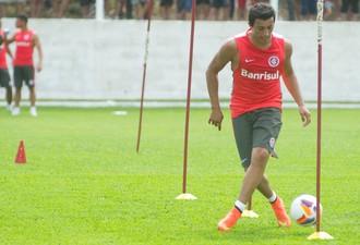Martin Luque Inter treino Bento Gonçalves Pré-temporada (Foto: Alexandre Lops/Internacional)