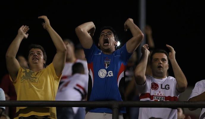 Torcedores apoiam o São Paulo contra o Trujillanos (Foto: Rubens Chiri / saopaulofc.net)