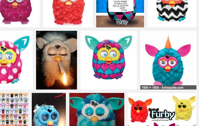 Busca por Furby no Google.com mostra boneco 'fumando maconha' (Foto: Reprodução/Google)