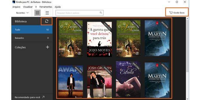 Sincronize sua biblioteca do Kindle no PC (Foto: Reprodução/Barbara Mannara)
