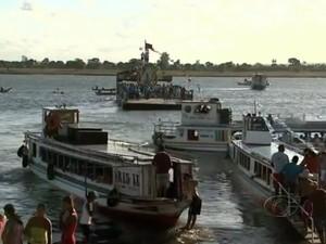 Tradicional procissão de barco promete encantar quem assistir ao evento. (Foto: Reprodução/TV Gazeta)