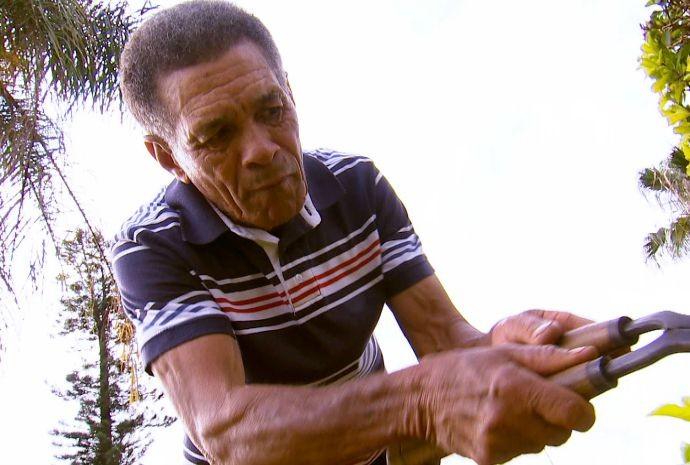 Seo Antonio Guica é fera na topiaria (Foto: Reprodução / TV TEM)