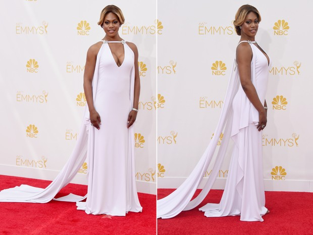 Laverne Cox no Emmy Awards (Foto: Getty Images)
