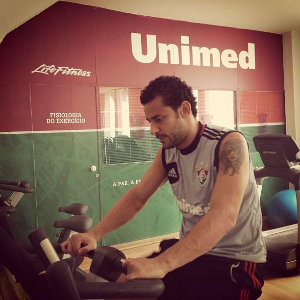 Fred fluminense musculação (Foto: Reprodução / Instagram)