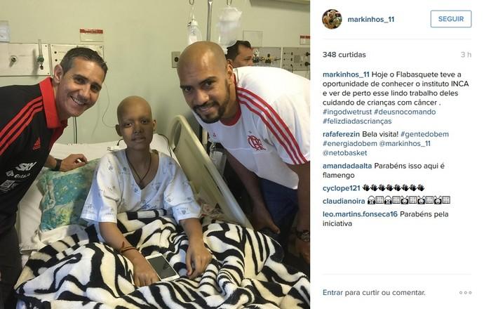 Marquinhos José Neto visita flamengo inca (Foto: Reprodução Instagram)
