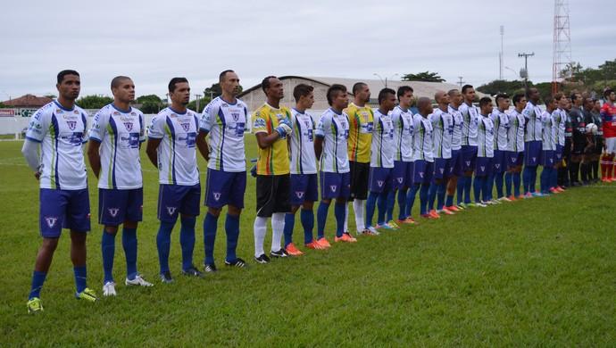 Jogadores do Ariquemes no Rondoniense 2014 (Foto: Eliete Marques)