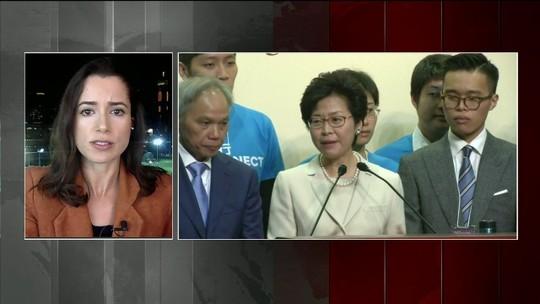 Carrie Lam se torna a 1ª mulher a chefiar o governo de Hong Kong