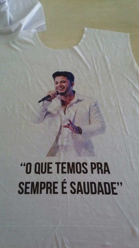 Camiseta em homenagem a Cristiano Araújo  (Foto: Arquivo Pessoal)
