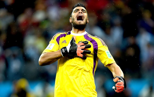 Sergio Romero defesa pênalti jogo Argentina x Holanda (Foto: Getty Images)
