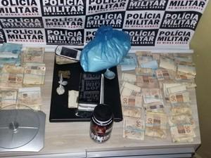 trafico de drogas araxá apreensão prisão  (Foto: PM/Divulgação)