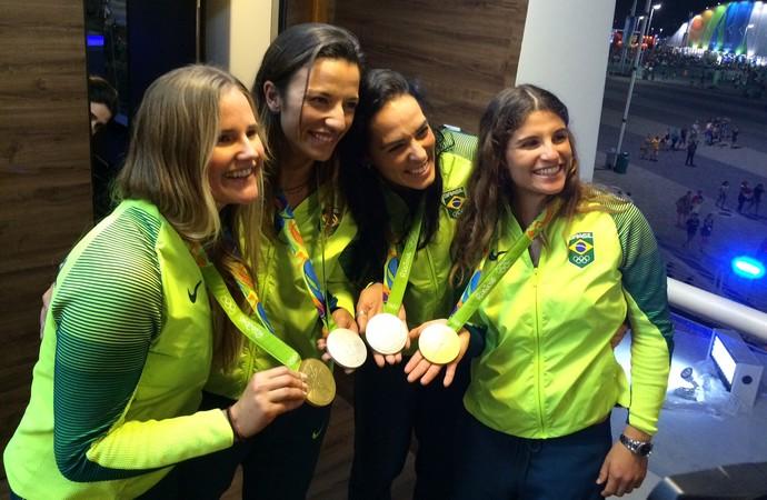 Martine, Kaena, Ágatha e Bárbara JN (Foto: Murilo Borges)