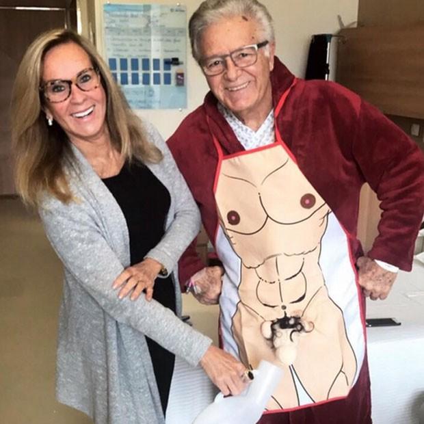 Helô Pinheiro e o marido, Fernando (Foto: Reprodução)