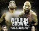 UFC lança pôster oficial de torneio de Fabricio Werdum x Travis Browne