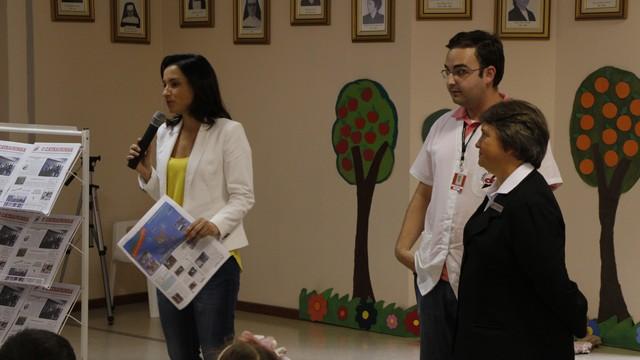 Sonia Campos participa de palestra sobre bons hábitos (Foto: Juliana C. Machado Menegaz)