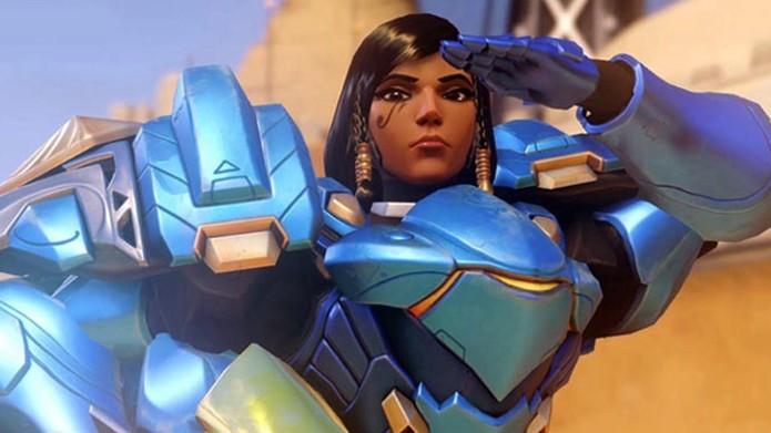 Pharah tem poder de fogo e defesa (Foto: Divulgação/Blizzard)
