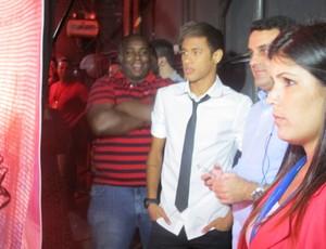Neymar Faustão Domingão (Foto: Cassio Barco/GLOBOESPORTE.COM)