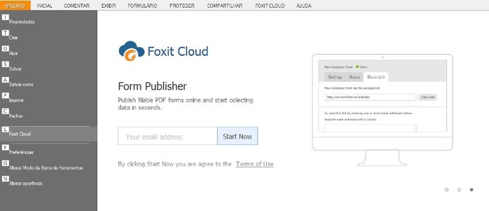 Cloud ajuda no armazenamento de PDFs (Foto: Reprodução / Laura Martins)
