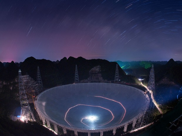 Telescópio mede o equivalente a 50 campos de futebol (Foto: Associated Press)