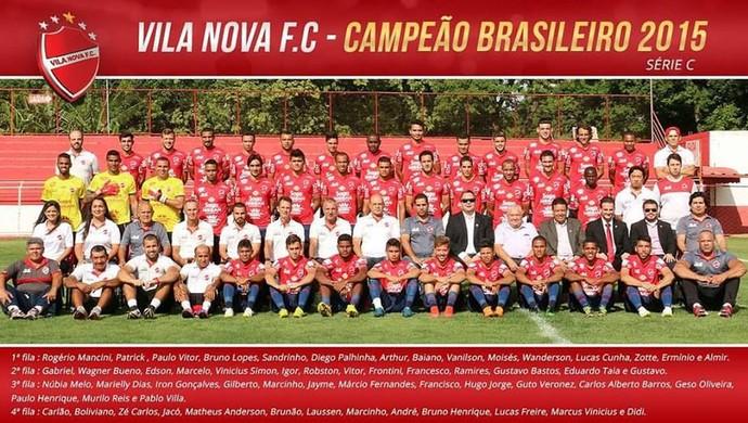 Vila Nova - foto oficial do título da Série C (Foto: Divulgação / Vila Nova)