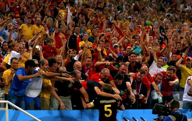 Jan Vertonghen gol Belgica x Coreia (Foto: Reuters)
