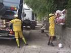 Serviço de coleta de lixo e varrição de ruas volta a funcionar em Cubatão, SP