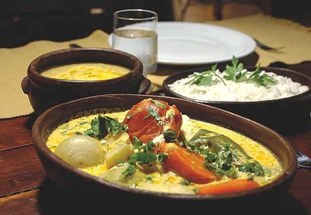 Prato do restaurante Colher de Pau, especializado na culinária cearense (Foto: Reprodução)